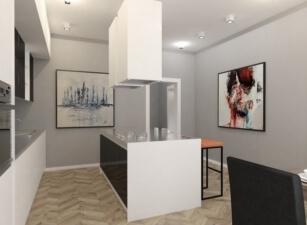 кухня в скандинавском стиле 025а