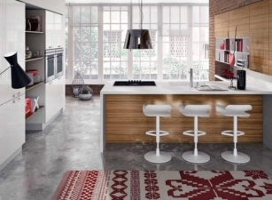 кухня в скандинавском стиле 027а