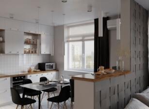 кухня в скандинавском стиле 044а