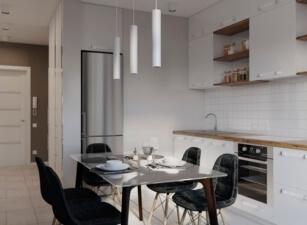 кухня в скандинавском стиле 045а