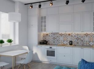 кухня в скандинавском стиле 047а
