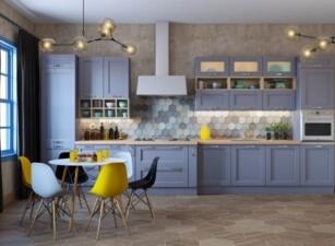 кухня в скандинавском стиле 049а