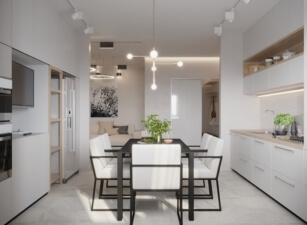 кухня в скандинавском стиле 051а