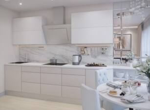 кухня в скандинавском стиле 055а