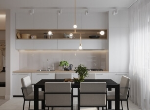 кухня в скандинавском стиле 057а