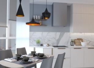 кухня в скандинавском стиле 064а