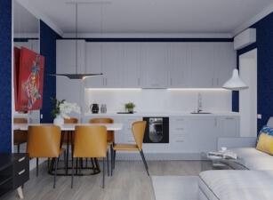 кухня в скандинавском стиле 071а