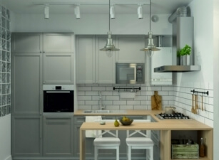 кухня в скандинавском стиле 087а