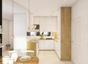кухня в скандинавском стиле 096а