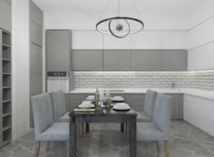кухня в скандинавском стиле 097а