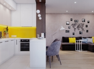 кухня в скандинавском стиле 098а