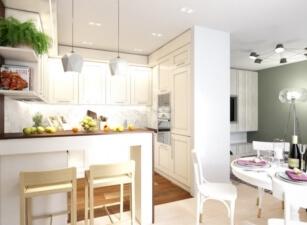 кухня в скандинавском стиле 104а