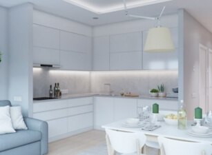 кухня в скандинавском стиле 112а