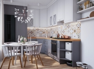 кухня в скандинавском стиле 119а