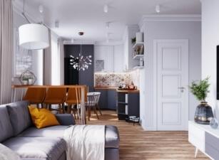 кухня в скандинавском стиле 120а
