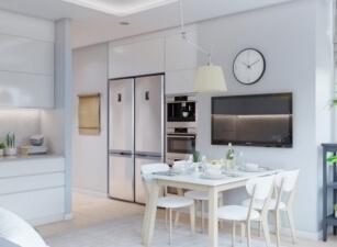 кухня в скандинавском стиле 121а