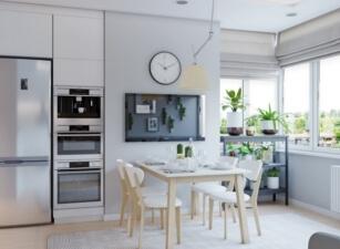 кухня в скандинавском стиле 122а