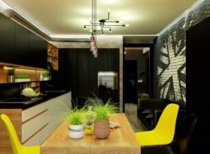 кухня в скандинавском стиле 154а