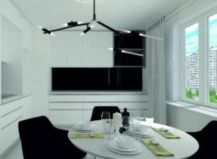 кухня в скандинавском стиле 157а