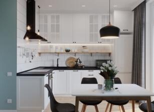кухня в скандинавском стиле 158а
