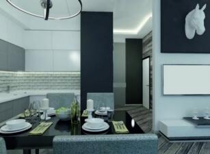 кухня в скандинавском стиле 175а
