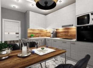 кухня в скандинавском стиле 176а