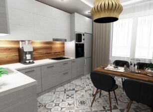 кухня в скандинавском стиле 177а