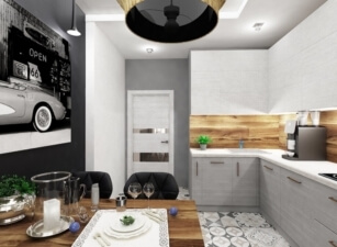 кухня в скандинавском стиле 178а