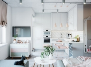 кухня в скандинавском стиле 185а