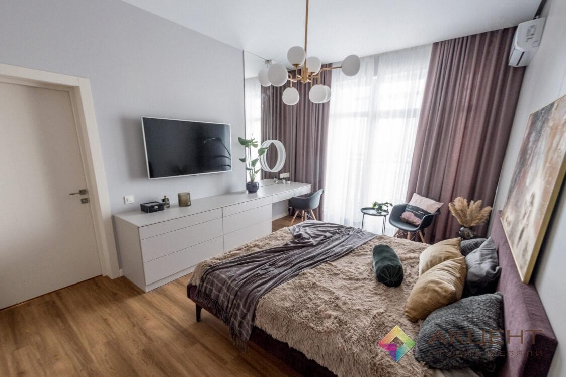 спальня с дизайном 01-2