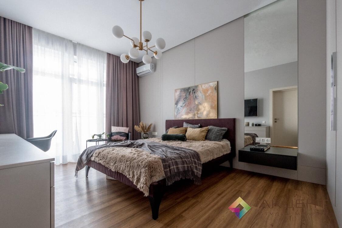спальня с дизайном 01-4