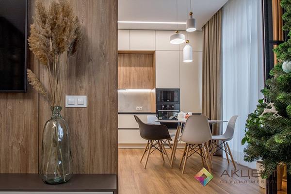 гостиная по дизайн-проекту