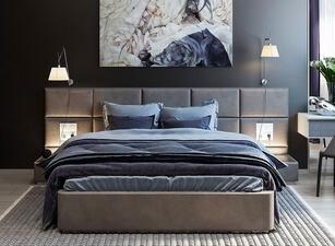 кровать мягкая 117а