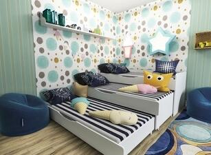 Кровать трехъярусная 101а