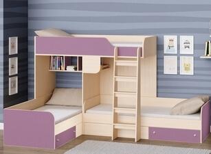 Кровать трехъярусная 105а