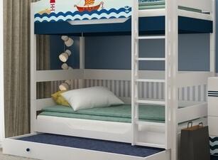 Кровать трехъярусная 106а