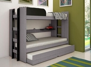 Кровать трехъярусная 115а