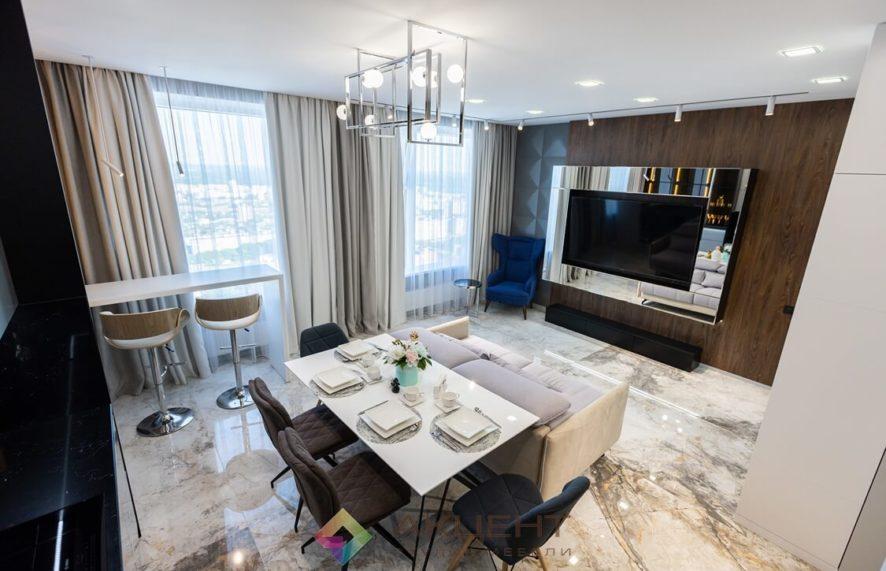 мебель для квартиры-студии с гардеробной 01