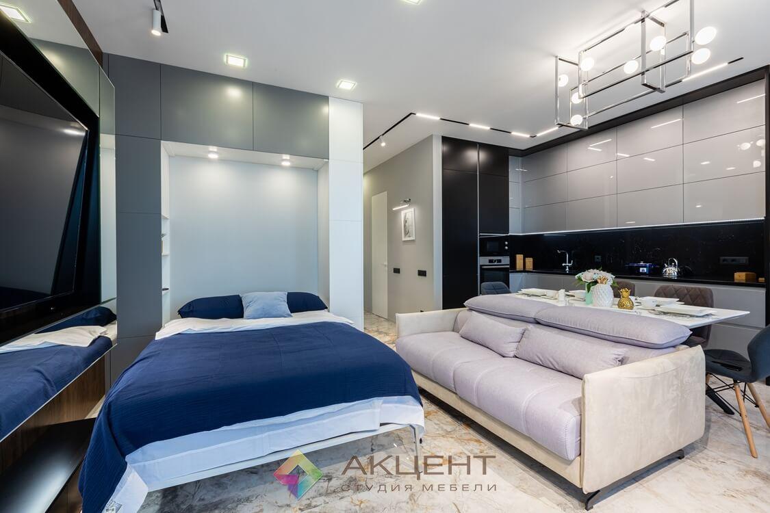 мебель для квартиры-студии с гардеробной 05