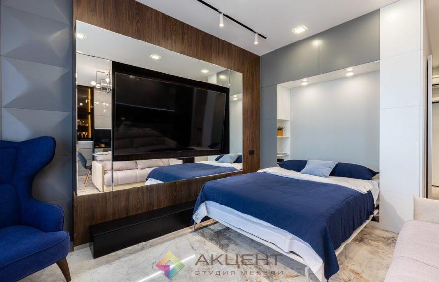 мебель для квартиры-студии с гардеробной 06