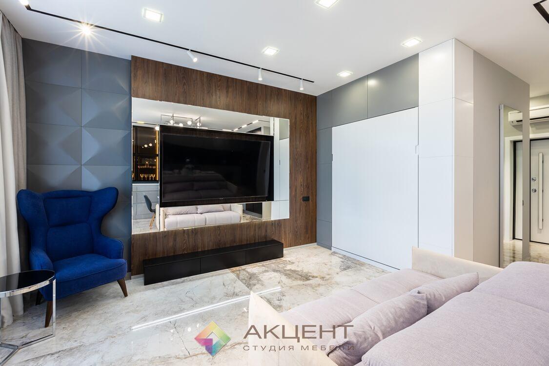 мебель для квартиры-студии с гардеробной 07