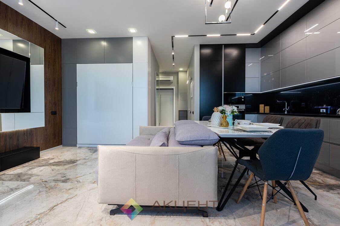 мебель для квартиры-студии с гардеробной 08