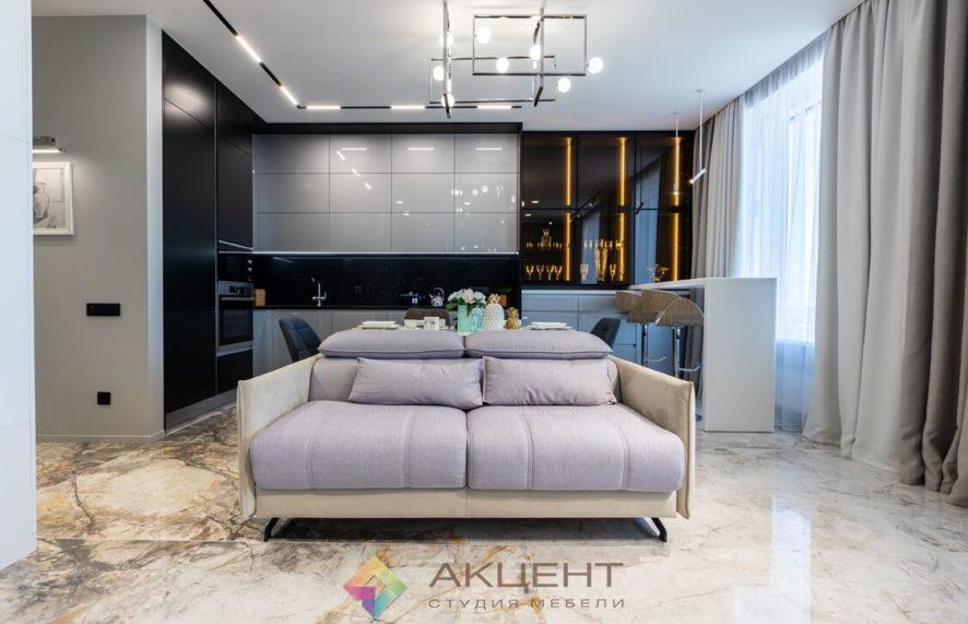 мебель для квартиры-студии с гардеробной 10
