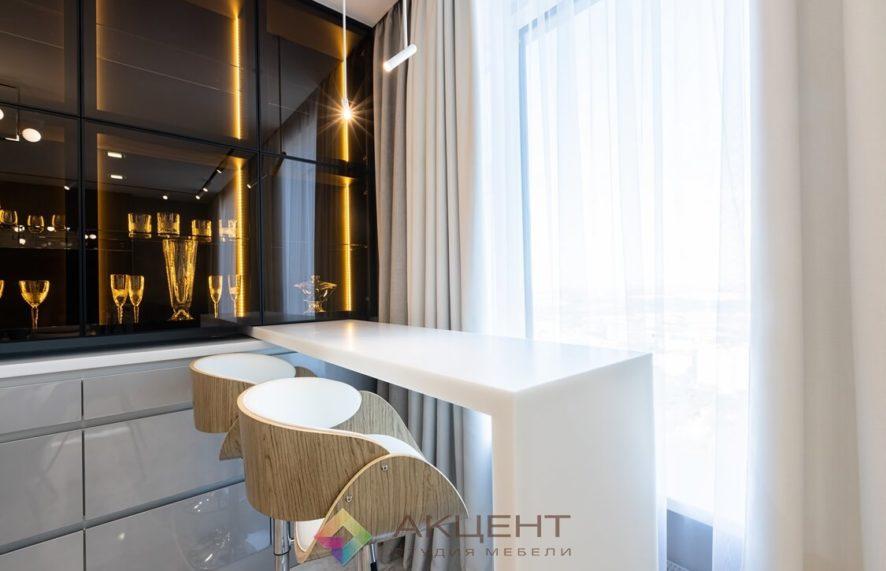 мебель для квартиры-студии с гардеробной 11