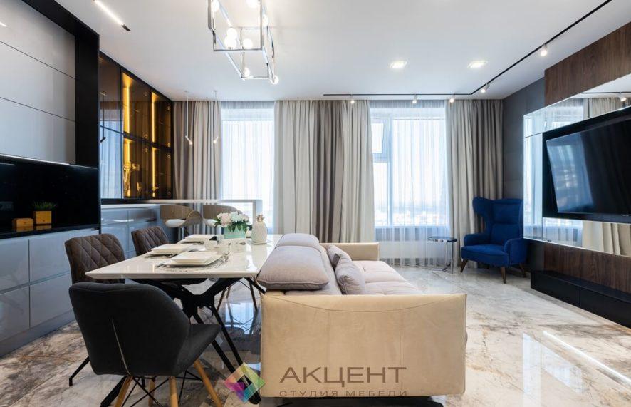 мебель для квартиры-студии с гардеробной 13