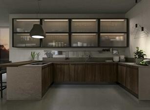 современная П-кухня - проект 108а