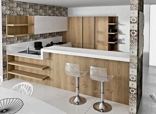 современная П-кухня - проект 123а